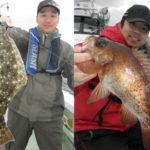 日本海船ヒラメ根魚!高級魚GET!