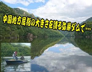 レンタルボートで快適! バスフィッシング in 弥栄ダム<