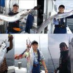 豊後水道の大型太刀魚